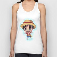 luffy Tank Tops featuring Luffy by Midnight Tardis