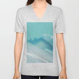 Geode Crystal Turquoise Blue Unisex V-Neck