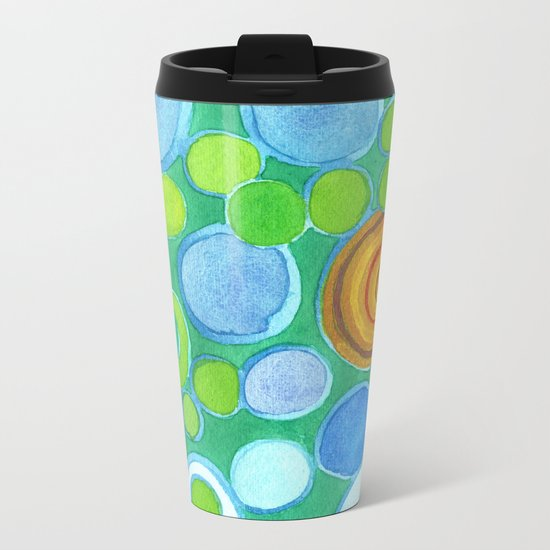 Stones under Water Metal Travel Mug