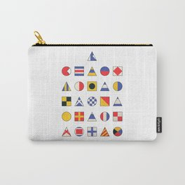 Navy Alphabet Pattern Carry-All Pouch