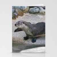 otter Stationery Cards featuring Otter by Phil Hinkle Designs
