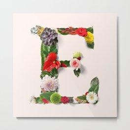 E flower letter Metal Print