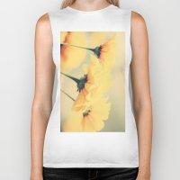 leah flores Biker Tanks featuring Flores by Irène Sneddon