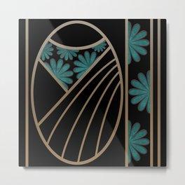 ART DECO FLOWERS (abstract) Metal Print