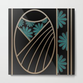 ART DECO FLOWERS (abstract) Metal Print