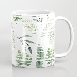 Summer stripped leafs pattern Coffee Mug