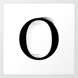 oboTypo _ O Art Print
