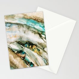 Teal Turquoise Geode Stationery Cards