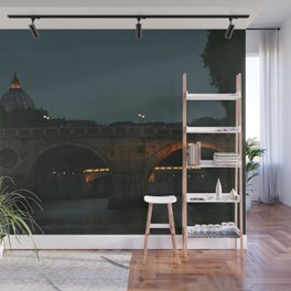 Bridges of Rome in the Evening Wall Mural