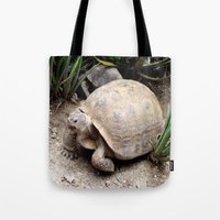 tortoise Tote Bags featuring Tortoise by lennyfdzz