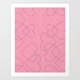 valentine line Art Print