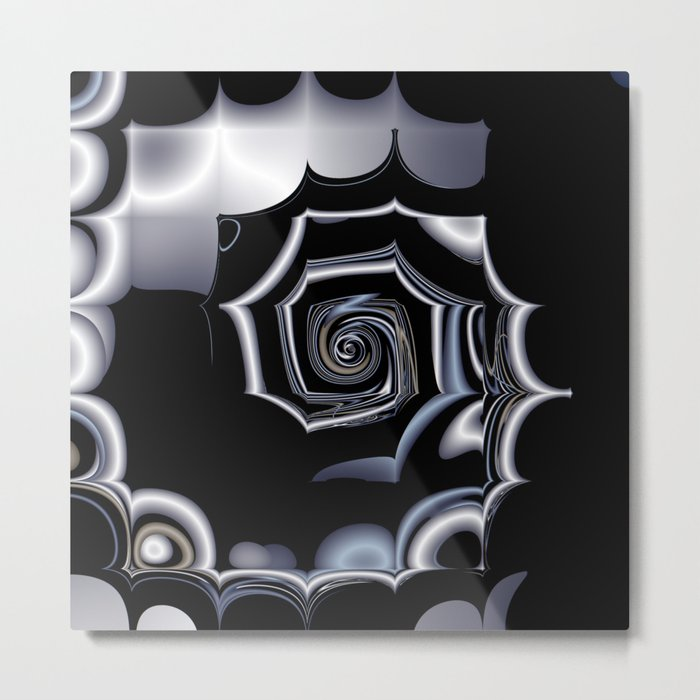 TGS Fractal Abstract in Winter Metal Print