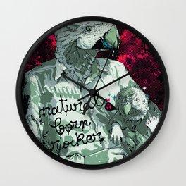 Natural born rocker... Wall Clock
