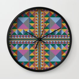 Triangle Pattern Autumn Color - Living Hell Wall Clock