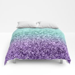 Mermaid Girls Glitter #9 #shiny #decor #art #society6 Comforters