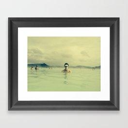 Public Bathing Framed Art Print