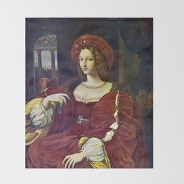Joanna of Aragon by Raphael Throw Blanket