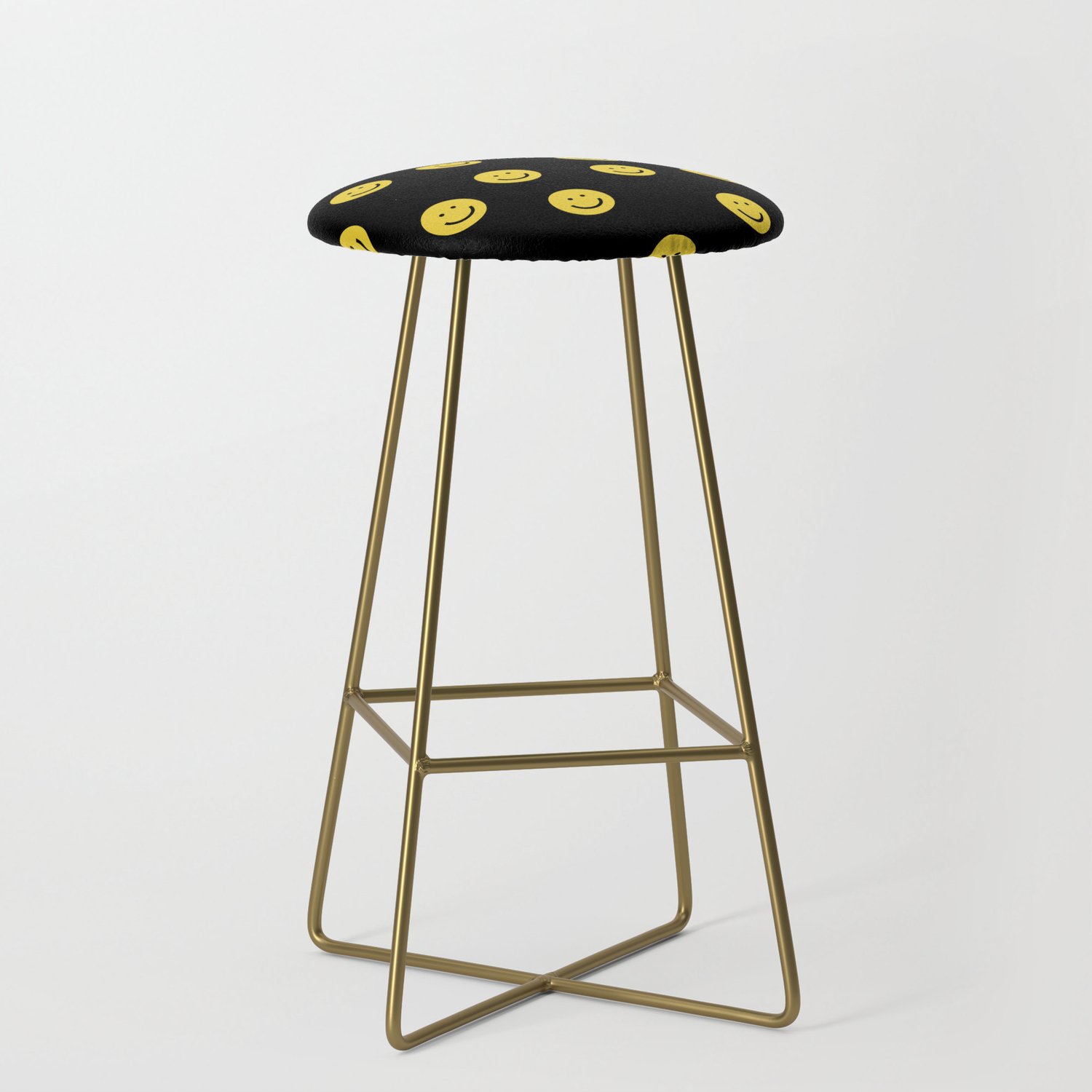 Happy Face Smiley Smiles Emoji Cute 90s Bar Stool By Andrealaurendesign Society6