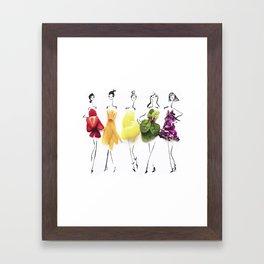 Edible Ensembles: Rainbow Framed Art Print