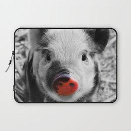 BW splash sweet piglet Laptop Sleeve