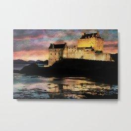 Eilean Donan Castle at Sunset. Metal Print