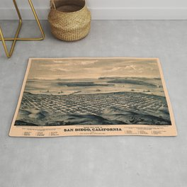 Map Of San Diego 1876 Rug