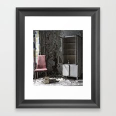 lost chair Framed Art Print
