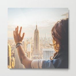 Touching New York Metal Print