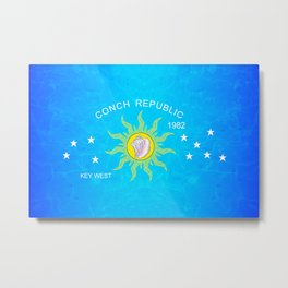 The Conch Republic Flag Metal Print