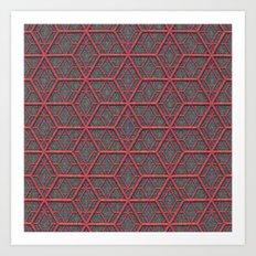 Gridlines Art Print