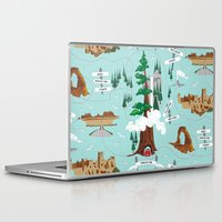 parks and rec Laptop & iPad Skins featuring National Parks by Julie's Fabrics & Thingummies