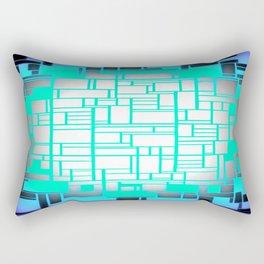 Periwinkle Seafoam Gray Rectangular Pillow