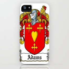 Family Crest - Adams - Coat of Arms iPhone Case