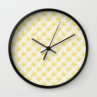 sunshine Wall Clocks featuring Sunshine by Leah Flores