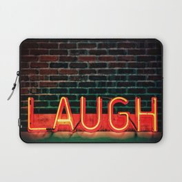Laugh neon Laptop Sleeve