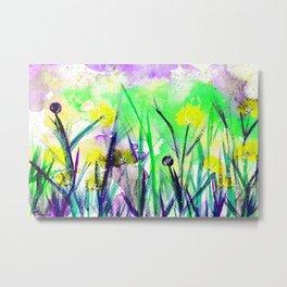 Flower Field Yellow Blossom Metal Print
