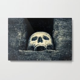 Old Human Skull In A Pagan Temple Metal Print