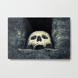 Old Human Skull In A Pagan Temple Metal Print