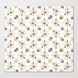 Modern Geometric Triangle Pattern Canvas Print