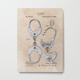 Ahrend Hand Cuff 1880 Metal Print