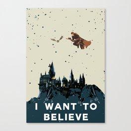 I Want To Believe - Hogwarts Canvas Print