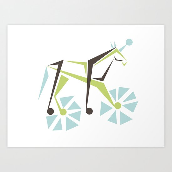 Mod Pop Unicorn Art Print