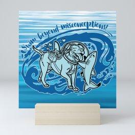 (v2) Swim Beyond Misconceptions Mini Art Print