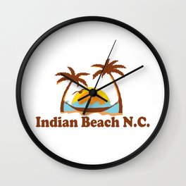 Indian Beach - North Carolina. Wall Clock