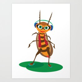 Happy Bug Art Print