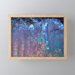 Waterfall. Rustic & crumby paint. Framed Mini Art Print