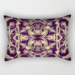 dark purple Digital pattern with circles and fractals artfully colored design for house and fashion Rectangular Pillow