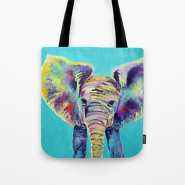 Baby Blue Elephant Tote Bag