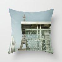 eiffel Throw Pillows featuring Eiffel by Sébastien BOUVIER