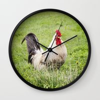 cock Wall Clocks featuring cock by Garpa
